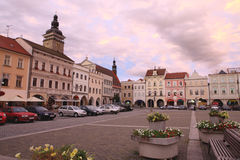 Square in Ceske Budejovice,2011 Stock Photography