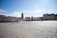Square Ceske Budejovice Stock Photos