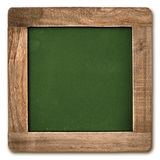 Square chalkboard with wooden frame isolated Stock Photography