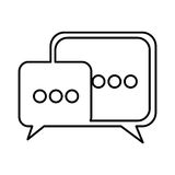 square chat bubbles icon Stock Photography