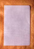 Square checkered paper background Stock Photography