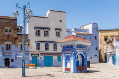 Square in Chefchaouen Royalty Free Stock Photography