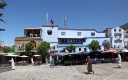 Square in Chefchaouen, Morocco Royalty Free Stock Image