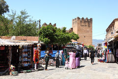 Square in Chefchaouen, Morocco Stock Image