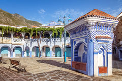 Square in Chefchaouen Royalty Free Stock Photos