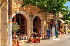 Square of Chersonisos. At the main square of the old town Chersonisos at Creta royalty free stock images