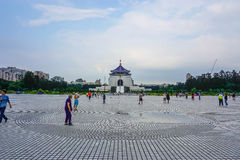 Square of Chiang Kai-shek Memorial Hall in Taipei city, Taiwan. Photographed in Taipei city, Taiwan Royalty Free Stock Image