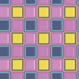 Square child colored glass mozaic tile seamless vector pattern. For wrapping, craft, fabric, wallpaper royalty free illustration