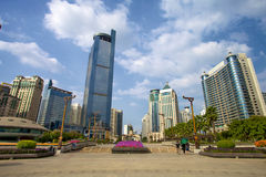 Square of China. Jinhu square in Nanning, Guangxi, China. Nanning is the capital of the Guangxi Zhuang Autonomous Region: Nanning. It has a border with Vietnam Royalty Free Stock Photos