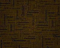 Chocolate text dark background Stock Photography