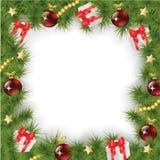 Square Christmas Background Stock Photo