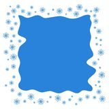 Square Christmas border or frame with random scatter falling sno royalty free illustration