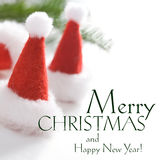 Square christmas greeting card Royalty Free Stock Image