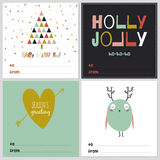 Square Christmas and New Year greeting cards Stock Photography