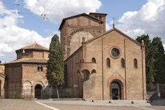 Square and church in Bologna Royalty Free Stock Images
