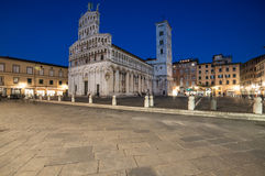 The square and the church of st. michael lucca tuscany Italy europe Stock Photos