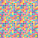 Square circle effect seamless pattern Royalty Free Stock Photo