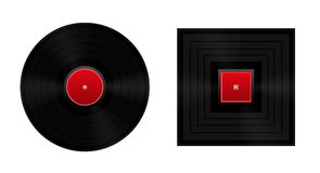 Square The Circle Vinyl Record Royalty Free Stock Images