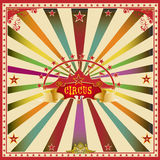 Square circus color card. Royalty Free Stock Photos