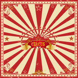 Square circus red card royalty free stock photo