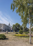 Square in the city of Azov, Rostov Region, Russia Royalty Free Stock Images