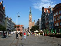 Square and the City of Gdansk, Poland, Europe Royalty Free Stock Image