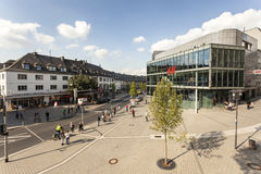 Square in the city of Siegen, Germany royalty free stock image