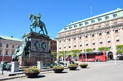 Square and the City of Stockholm, Sweden, Europe Stock Photos