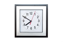 Square clock Stock Image
