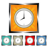 Square clock buttons Royalty Free Stock Images