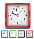 Square clock Stock Photos
