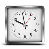 Square clock Stock Images