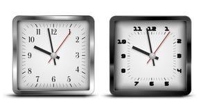 Square clock Stock Photos
