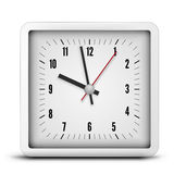 Square clock Royalty Free Stock Image