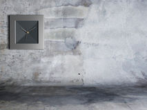 Square clock on the  wall Royalty Free Stock Photos