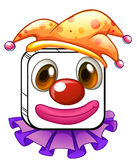 A square clown face Royalty Free Stock Image