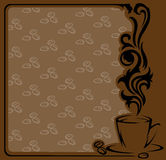 Square coffee Frame Royalty Free Stock Photos