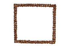 Square coffee frame. Royalty Free Stock Photo