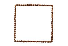 Square coffee frame. Royalty Free Stock Image