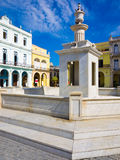Square and colonial buildings in Old Havana Royalty Free Stock Photo
