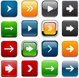 Square color arrow icons. Stock Photo