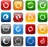 Square color arrow icons. Stock Image