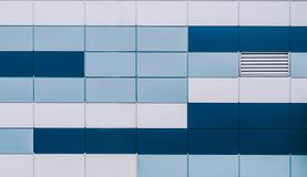 Square color background. Blue and white colors royalty free stock photos