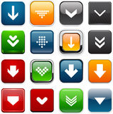 Square color download icons. Stock Image