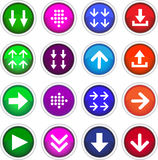 Square color download icons. Royalty Free Stock Photos