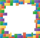 Square Colored Block Picture Frame. Colored block picture frame in a square shape format Royalty Free Stock Photos