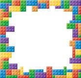 Square Colored Block Picture Frame. Colored block picture frame in a square shape format stock illustration