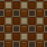 Square colored glass mozaic chocolate tile seamless vector pattern. For wrapping, craft, fabric, wallpaper stock illustration