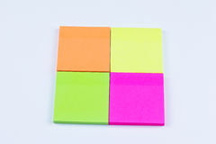 Square of colored sticky notes Stock Photo