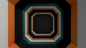 Square colored tunnel. Abstract animation of a square multicolored tunnel vector illustration